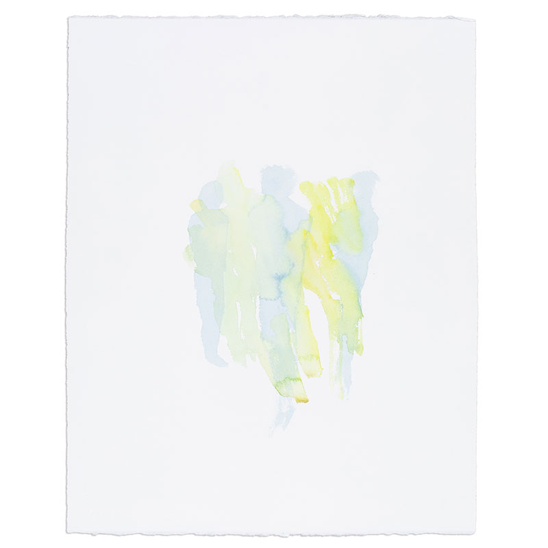 """Untitled 1.28.2018 , 2018 watercolor on paper 20.5 x 16.25"""" paper  Inquire   >"""