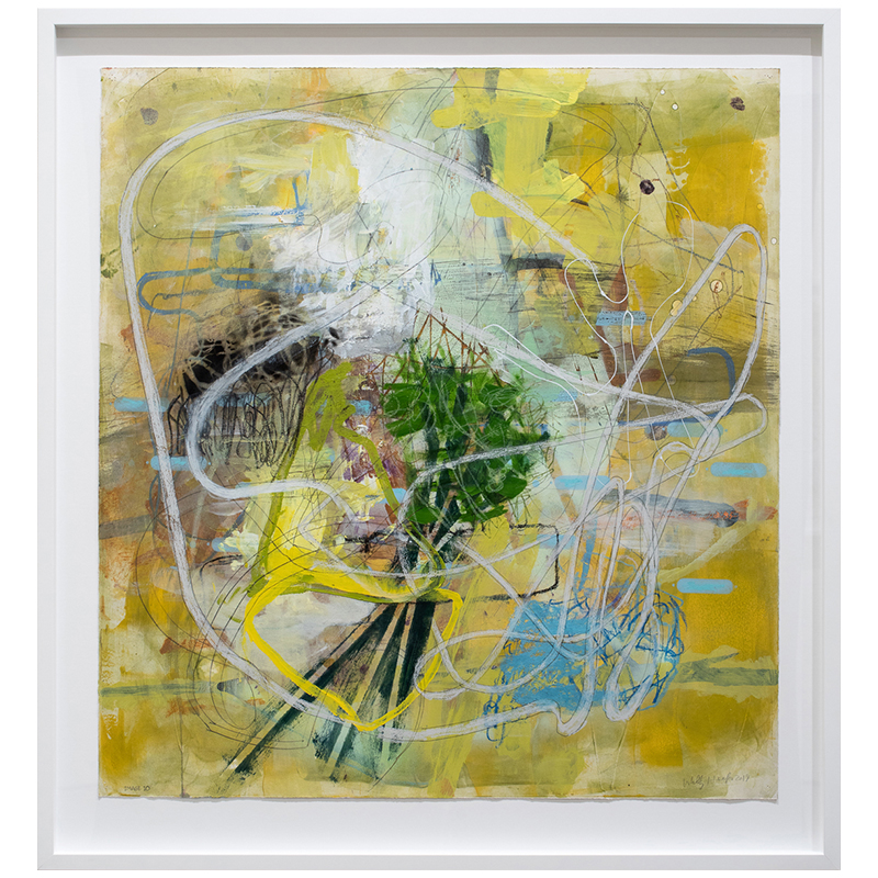 "Image 10 , 2019 mixed media on paper 35.5 x 33"" paper  Inquire >"