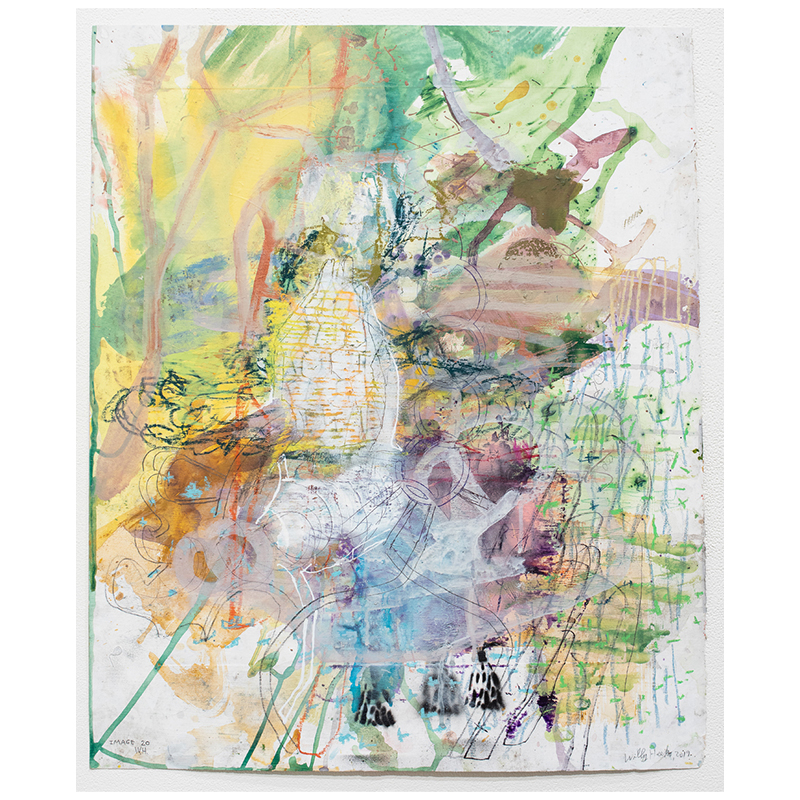 "Image 20 , 2019 mixed media on paper 27.25 x 22"" paper  Inquire >"