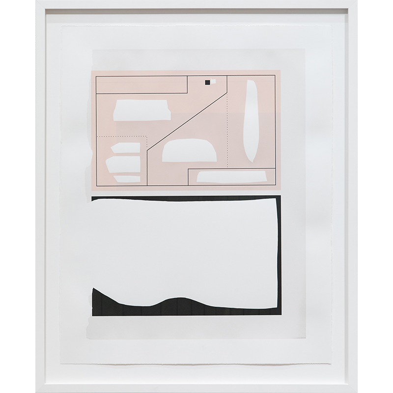 """Frame 1 [pink/peach] , 2019 serigraph 28 x 22"""" paper Edition of 12  Inquire >"""