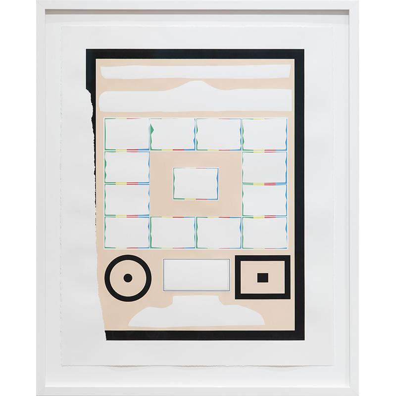 "Frame 2 [big black border] , 2019 serigraph 28 x 22"" paper Edition of 12  Inquire >"