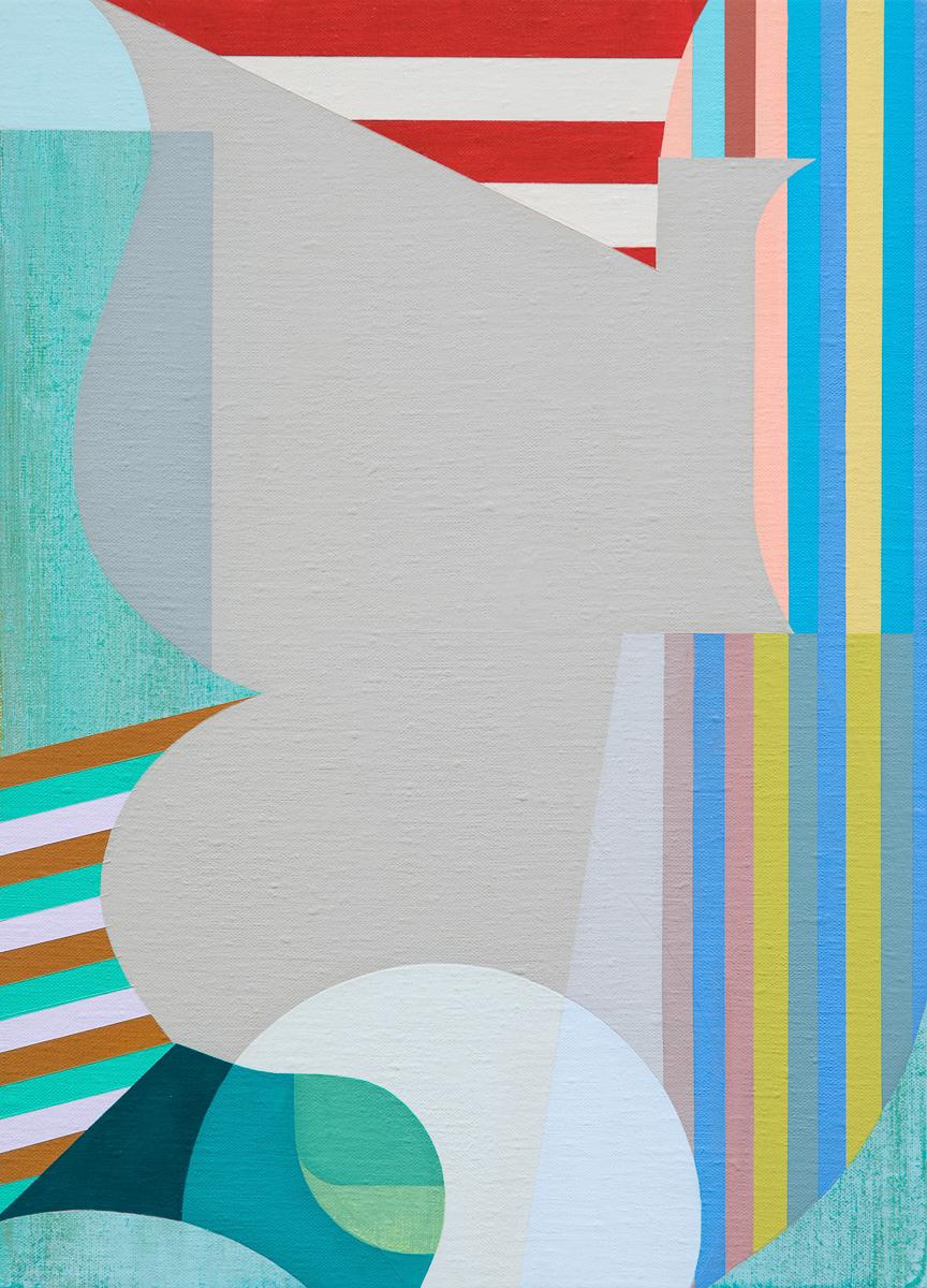 """Monogram 2 , 2019 acrylic on linen over panel 19.5 x 14"""""""