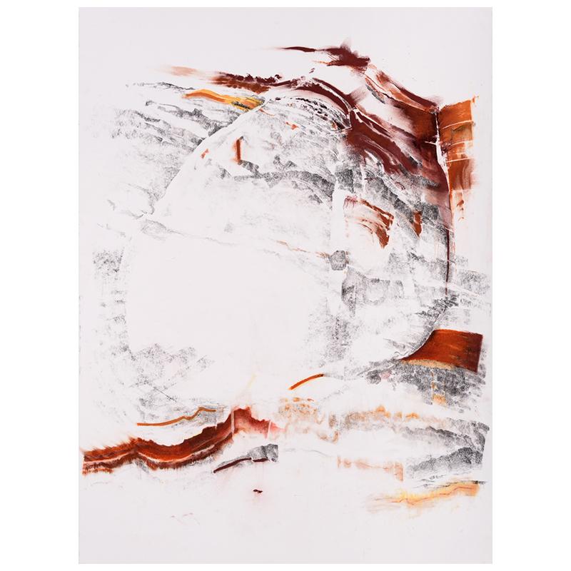 "Fissure , 2019 graphite and pastel on paper 22 x 30"" paper  Inquire >"