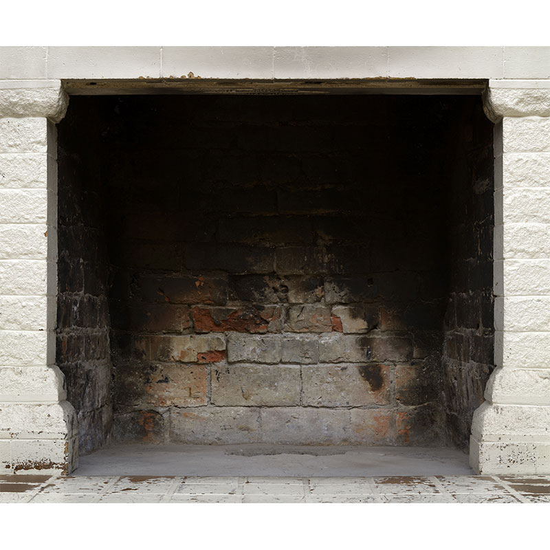 "Fireplace , 2010 photographic construction, archival inkjet print 46.5 x 55.75"" Edition of 3, 2AP  Inquire >"