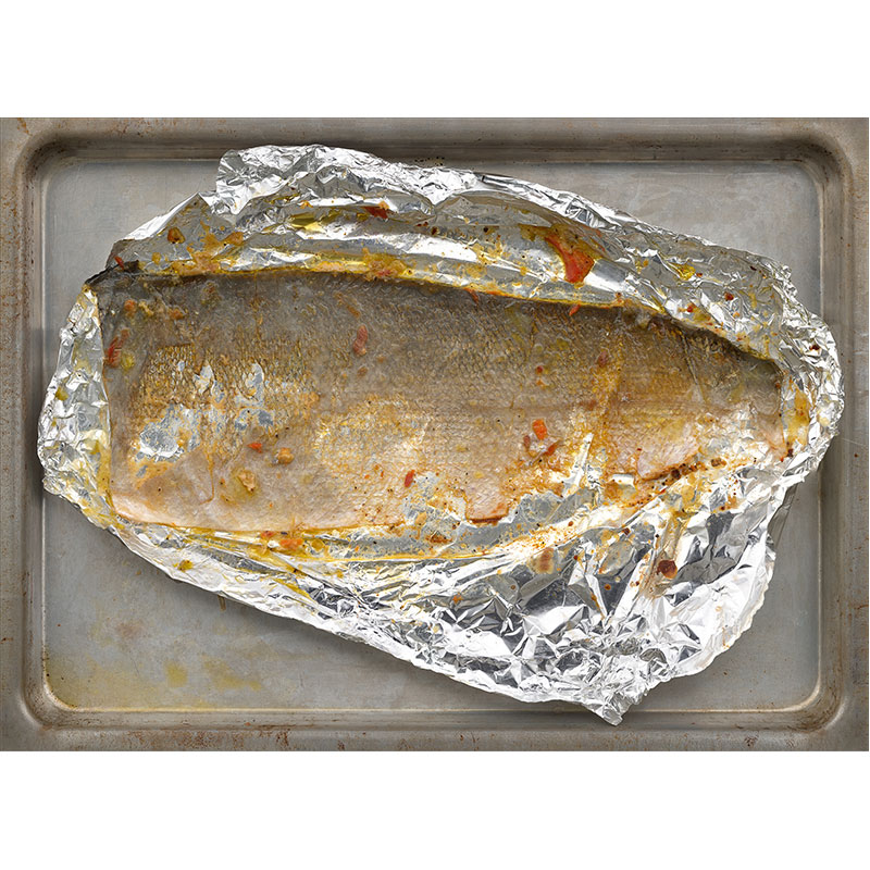 "Untitled  (fish foil), 2013 photographic construction, archival inkjet print 29 x 40"" Edition of 5, 2AP  Inquire >"