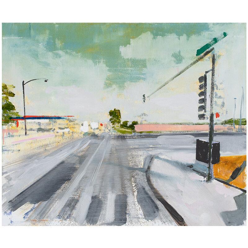 """Chicago, IL 10-20-14 , 2019 oil on canvas over panel 25 x 30""""  Inquire >"""