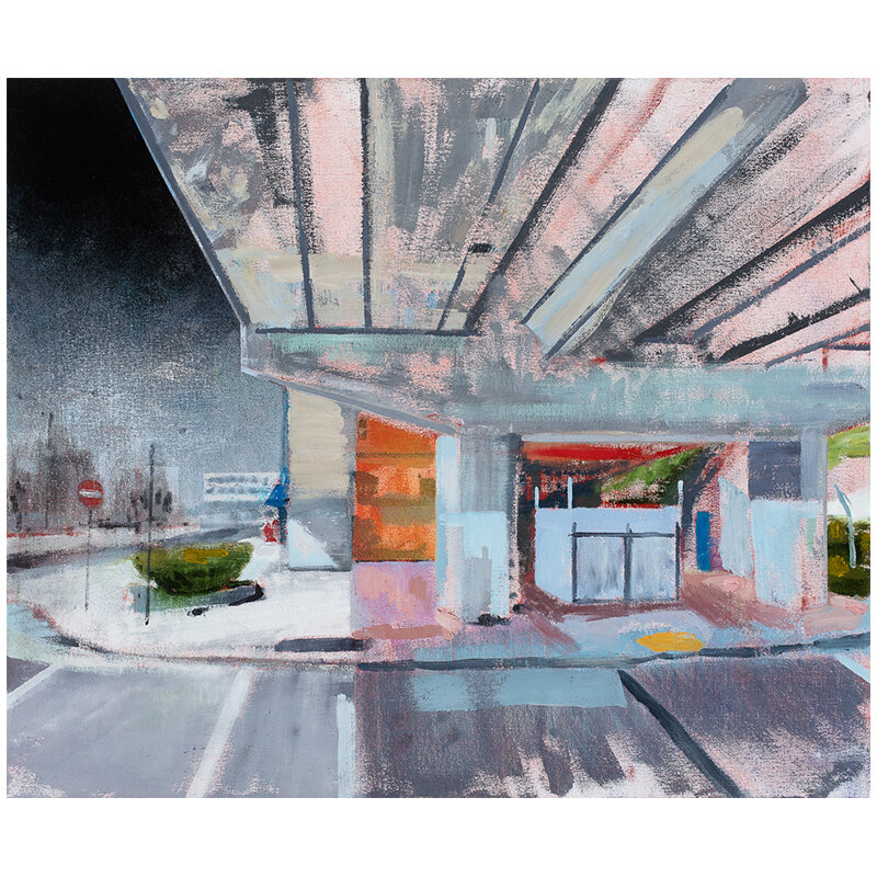 "Oakland, CA 1-1-09 , 2019 oil on canvas over panel 25 x 30""  Inquire >"