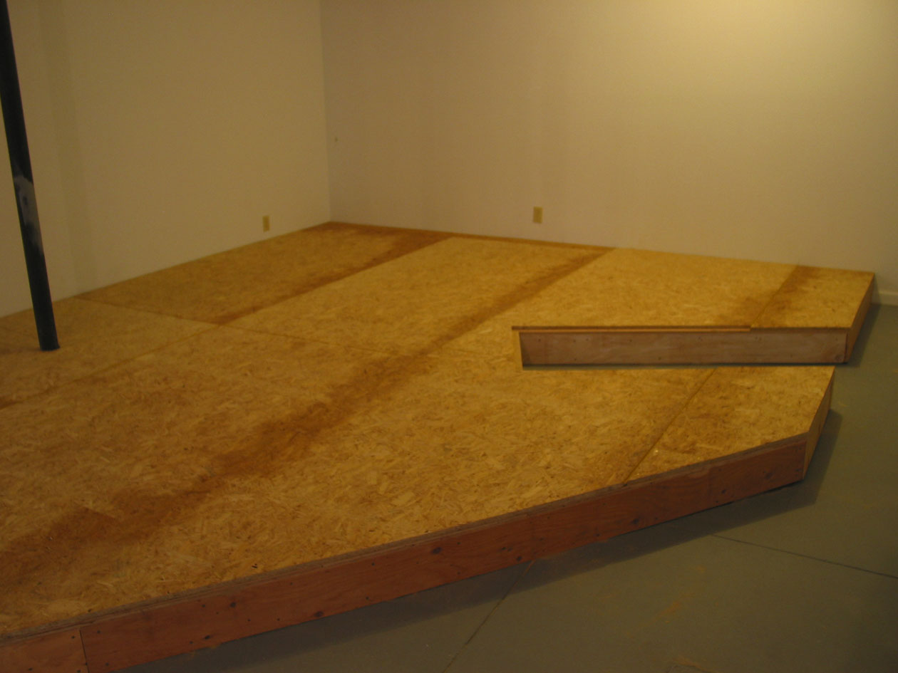 "The elevated floor is now complete, the future home of my new ""rain room"", a demanded repeat from A&O 1.0. Very solid."