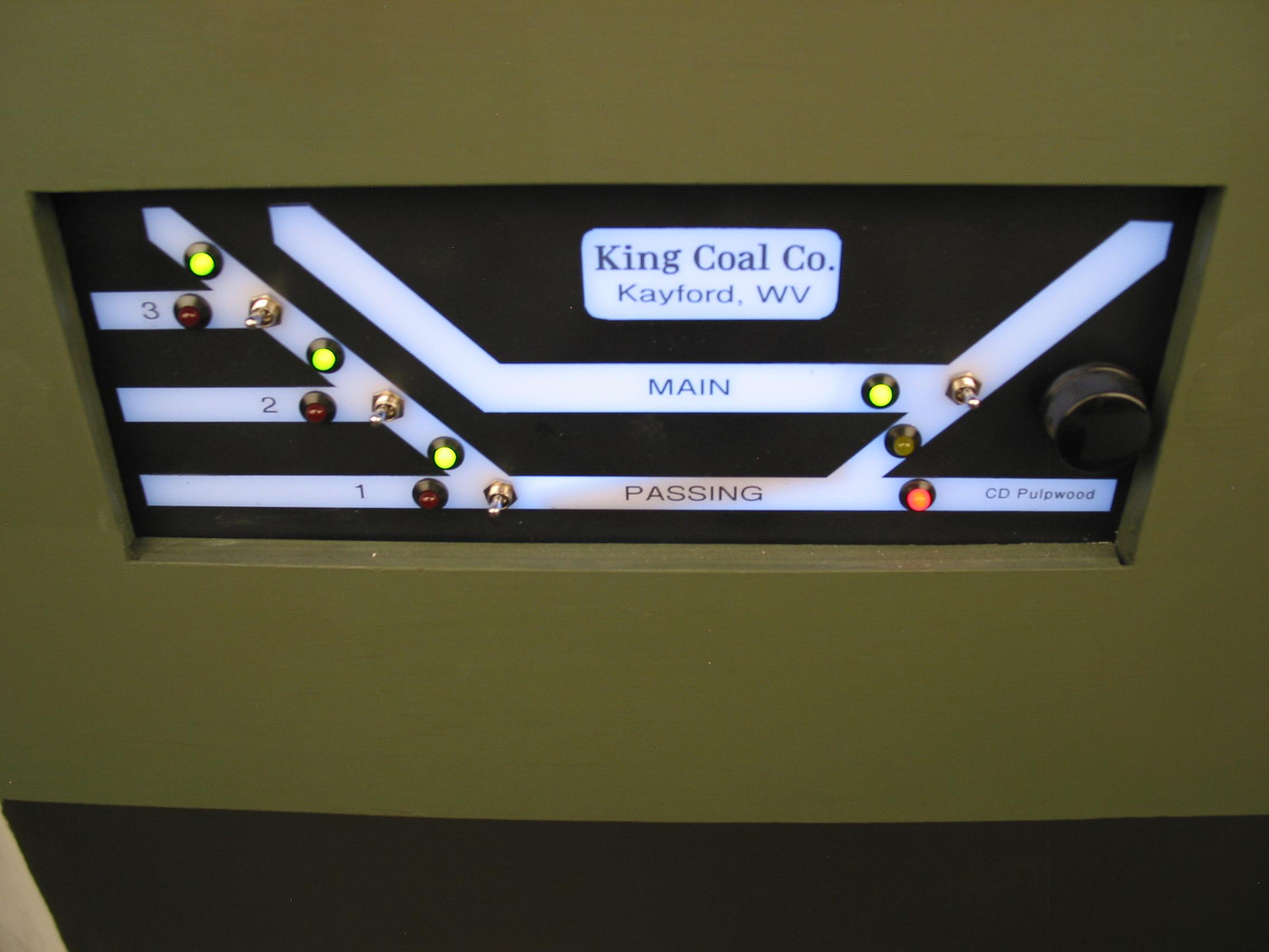 The King Coal panel of Kayford, WV.