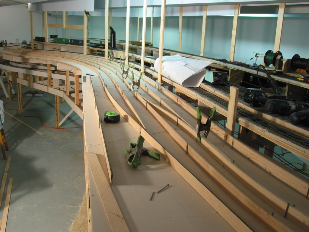 Splines, clamps, thinking thru operations.......  The peninsula styrene skyboard is being added at this time as well.