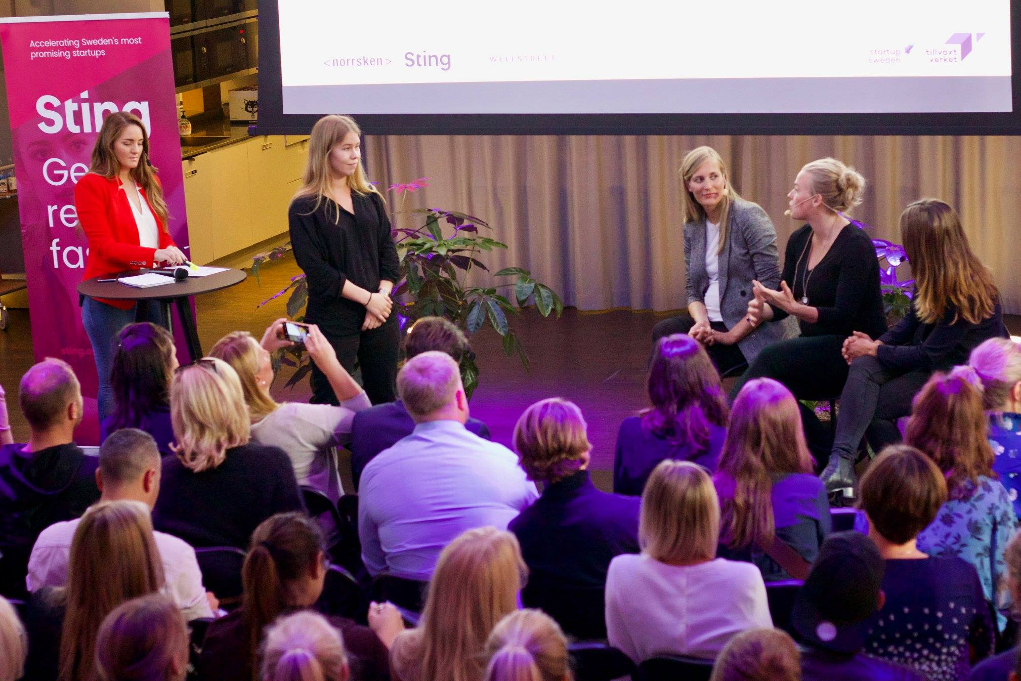 10 startups pitched at Norrsken House infront of VC-panel from Norrsken Foundation, Creandum, H&M Co-lab. Ronja Koepke moderated the event infront of 150+ attendees.