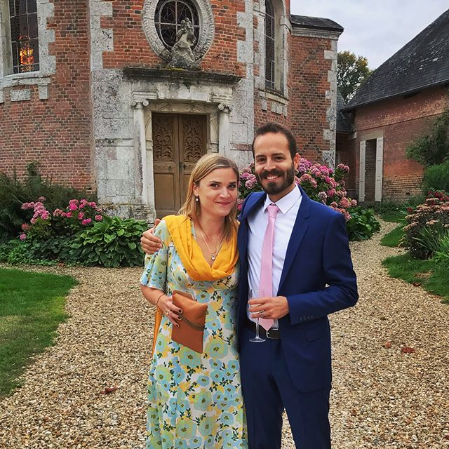 Weekend wedding festivities with this babe! 😍🥂 . . . #france #chateau #wedding