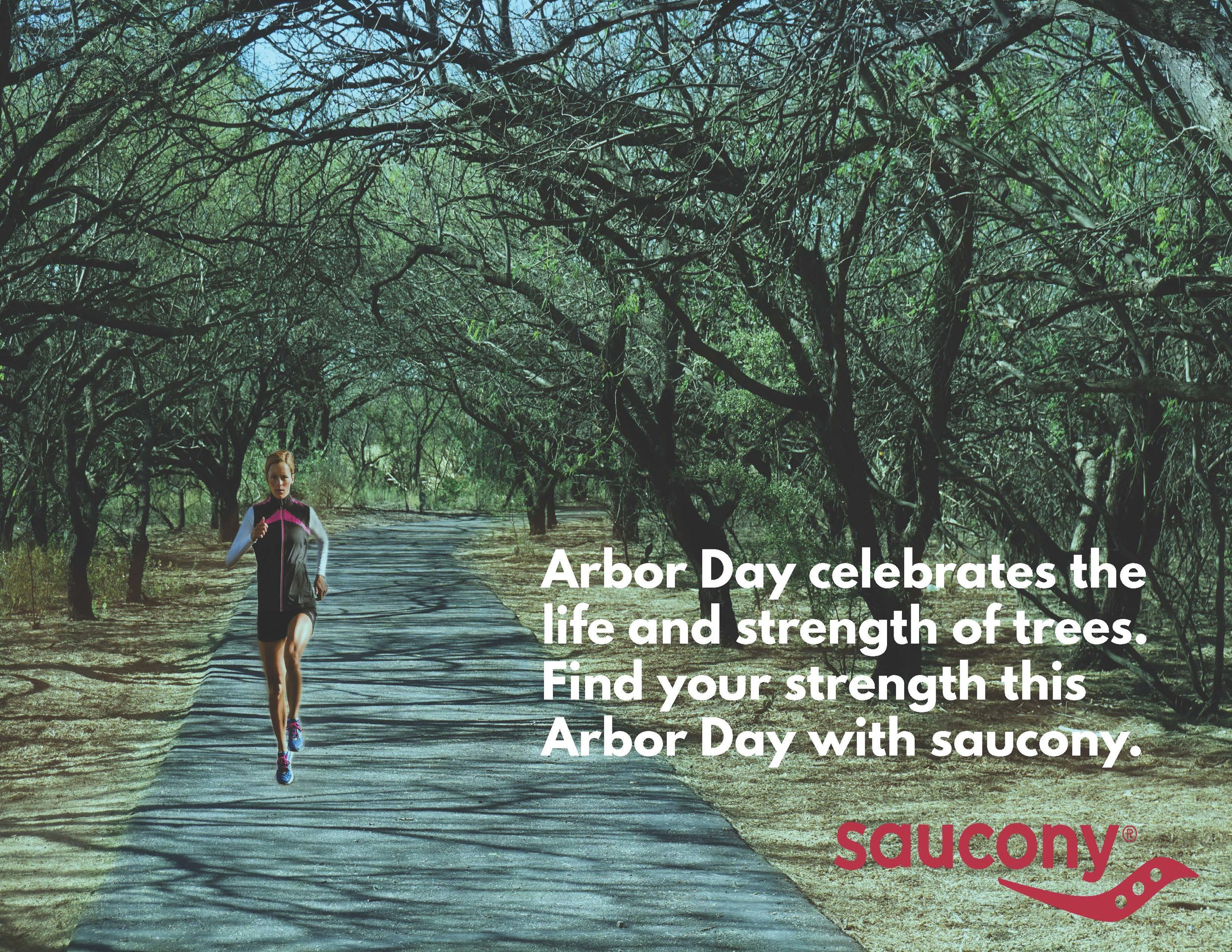 Mock Arbor Day/saucony advertisement I created in school.