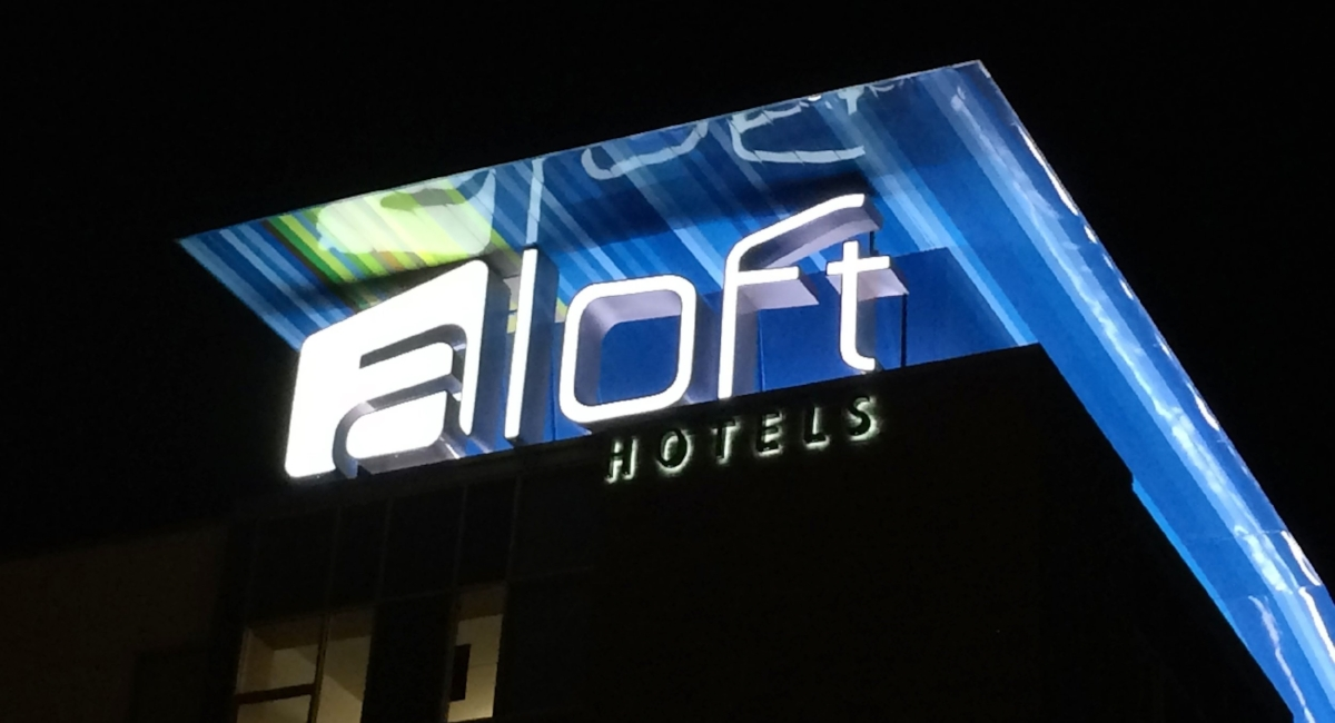 aloft channel letters