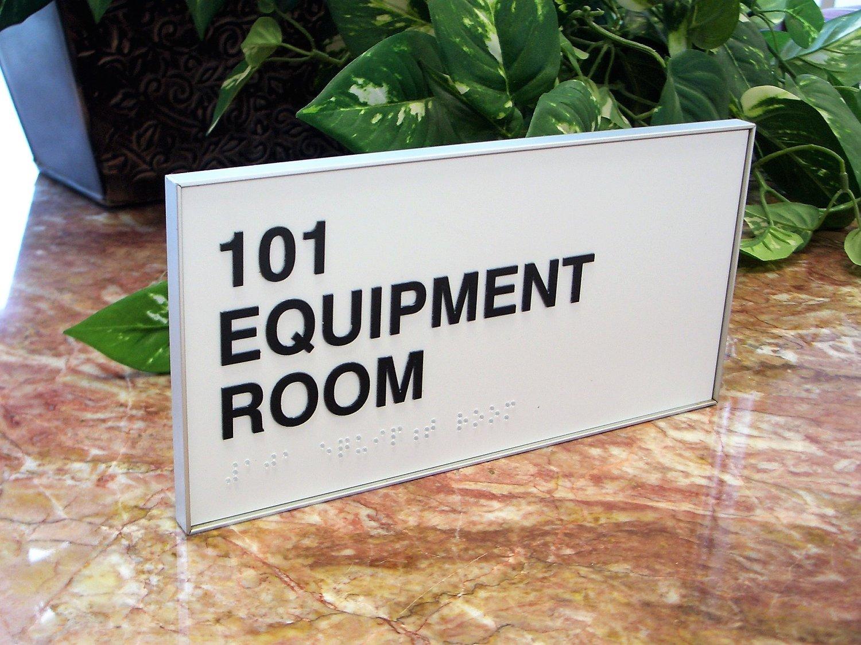 custom aluminum frame ada office signs