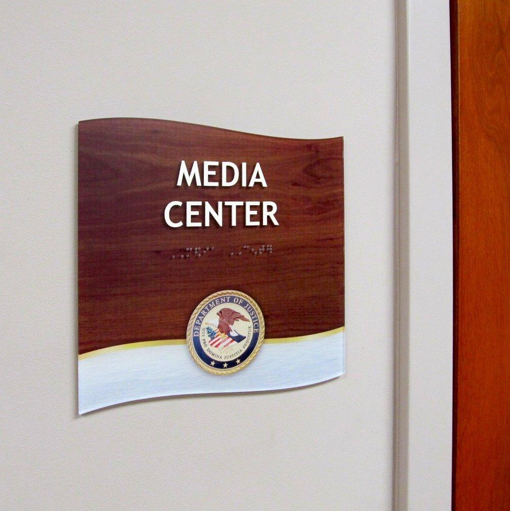 full color print ada office sign