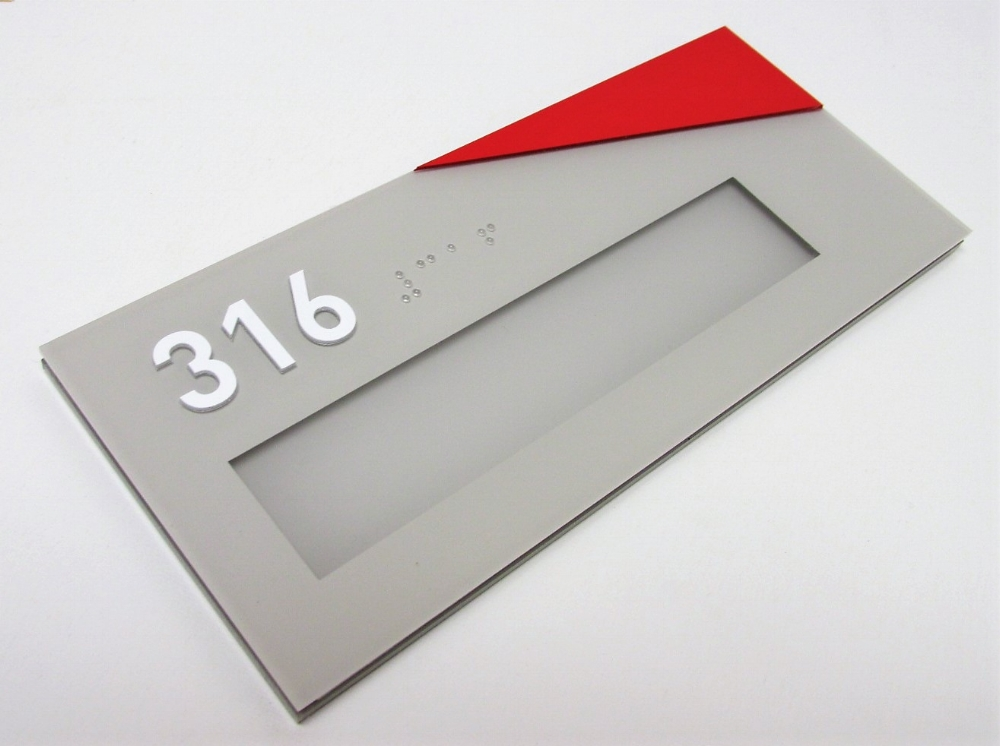 interior office ada sign custom braille