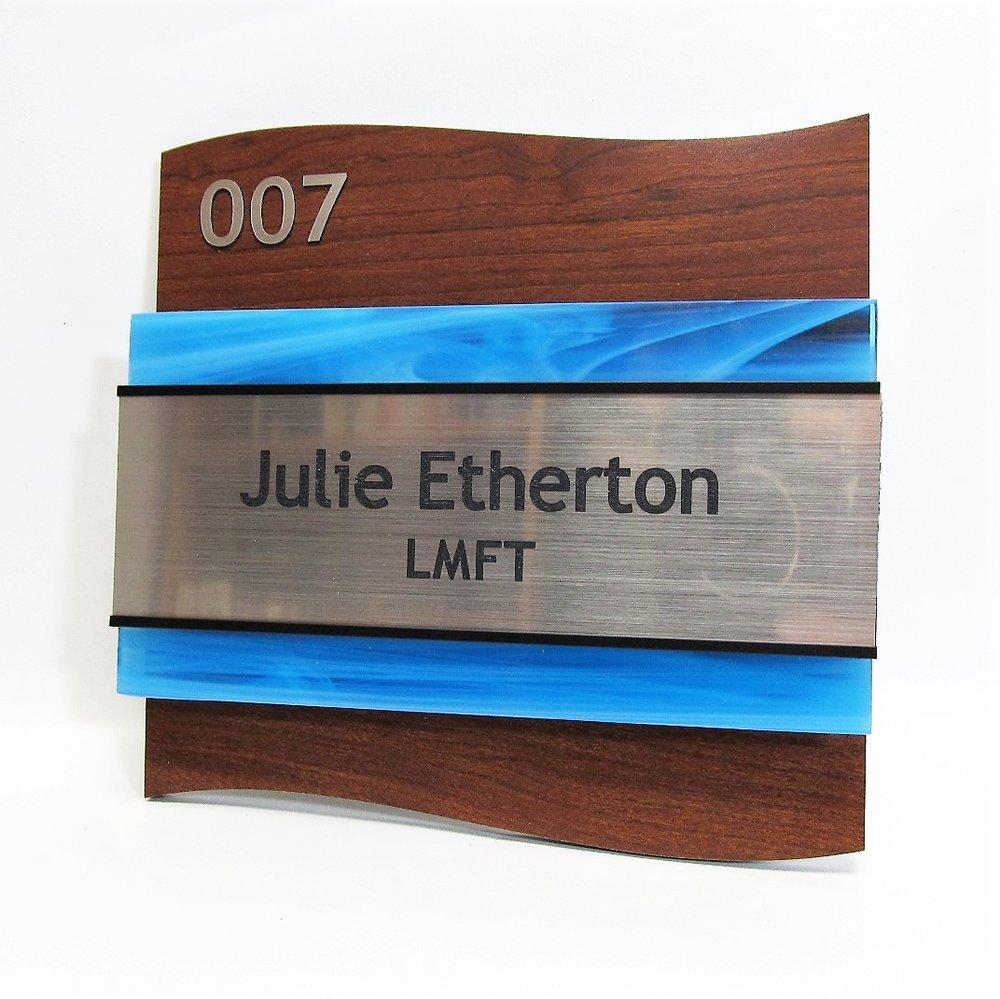 interior office ada aluminum glass sign number