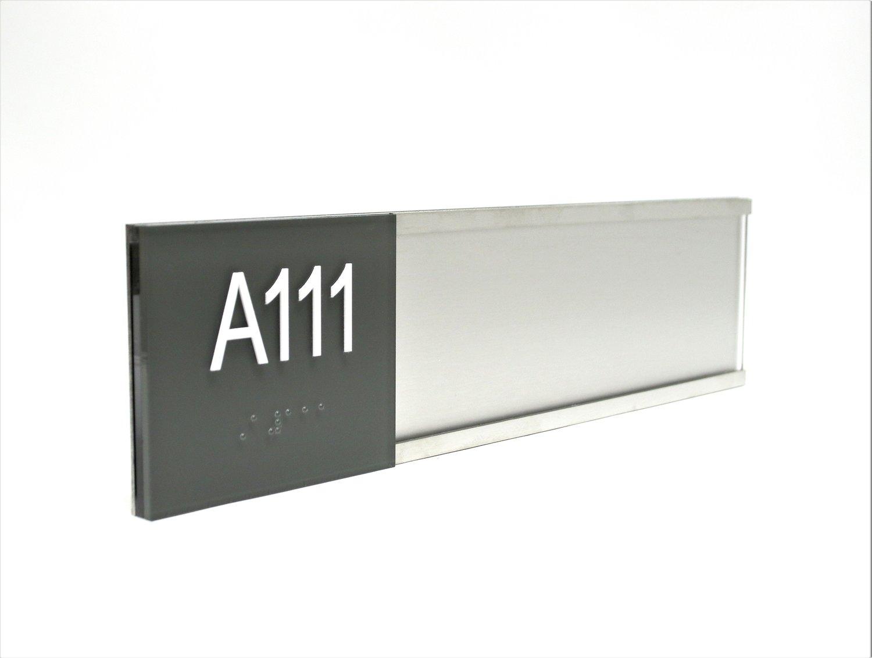 custom stainless steel ada window sign