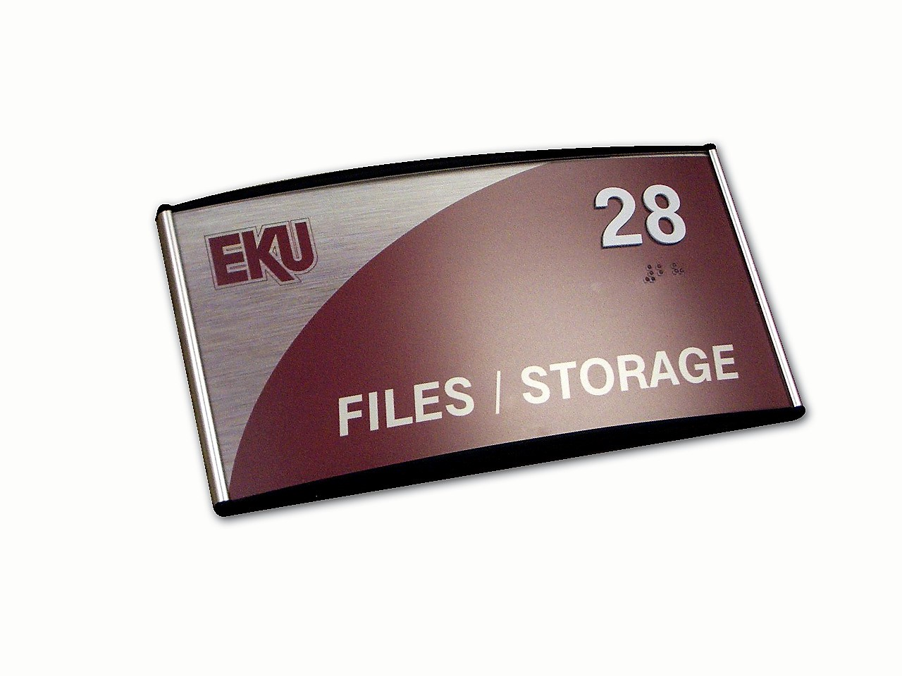 eastern kentucky university ada office sign curved frame