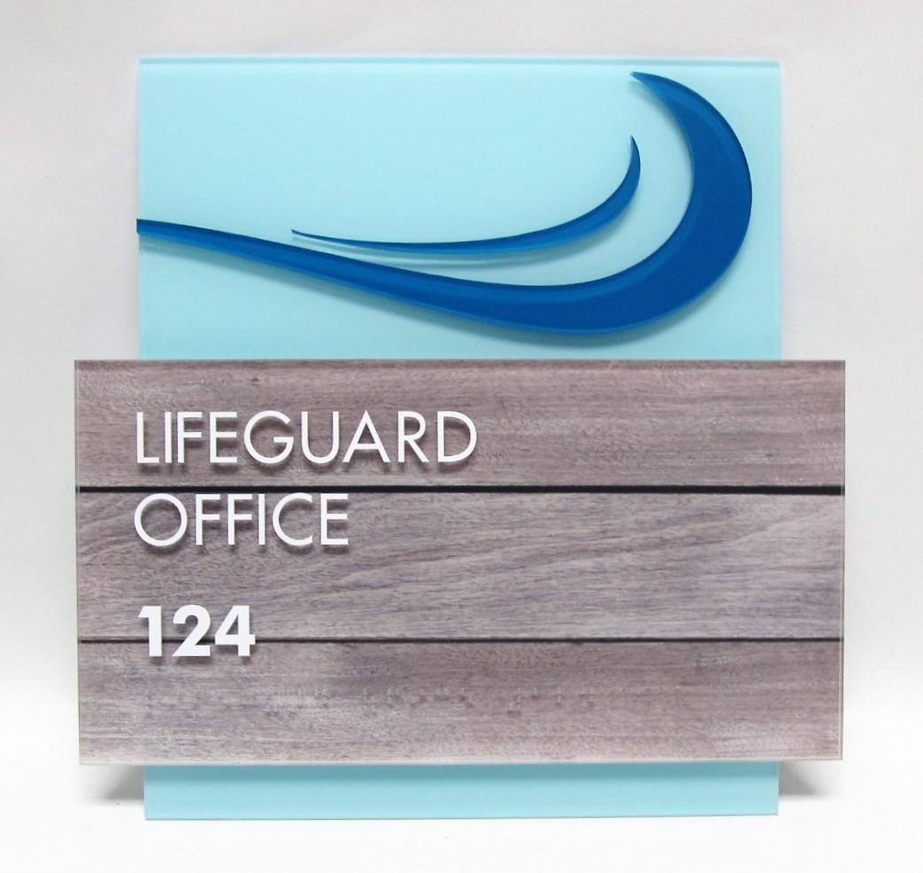 wood ada sign design acrylic office
