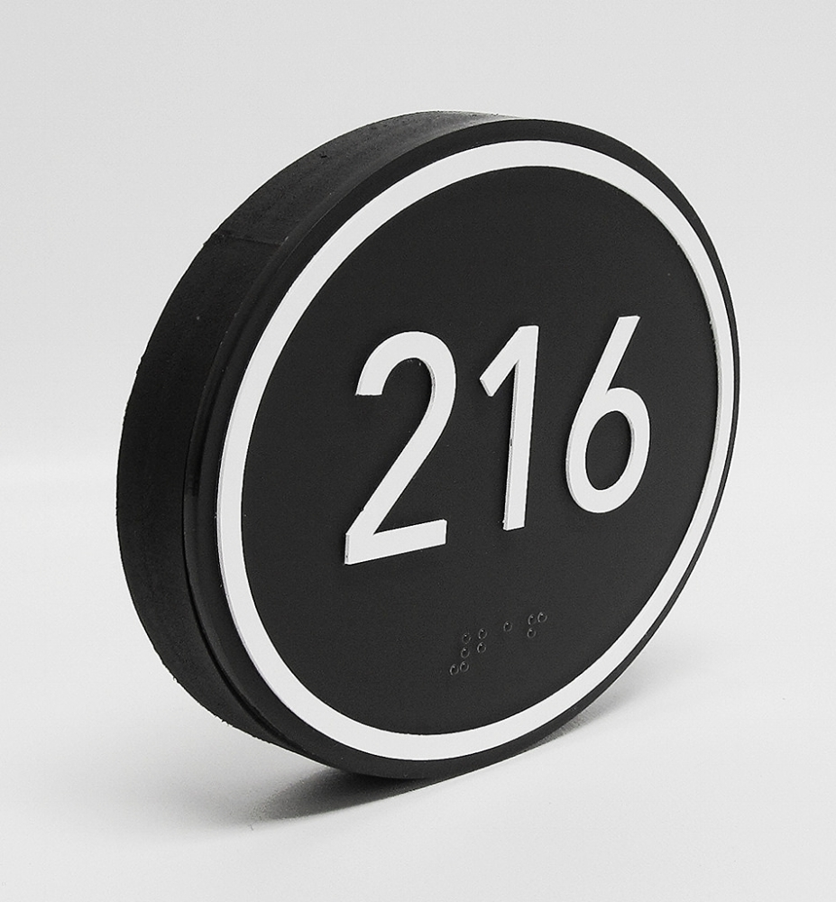 thick oval room number ada sign wholesale