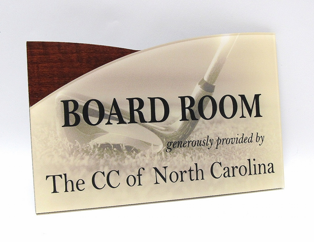 full color interior office sign