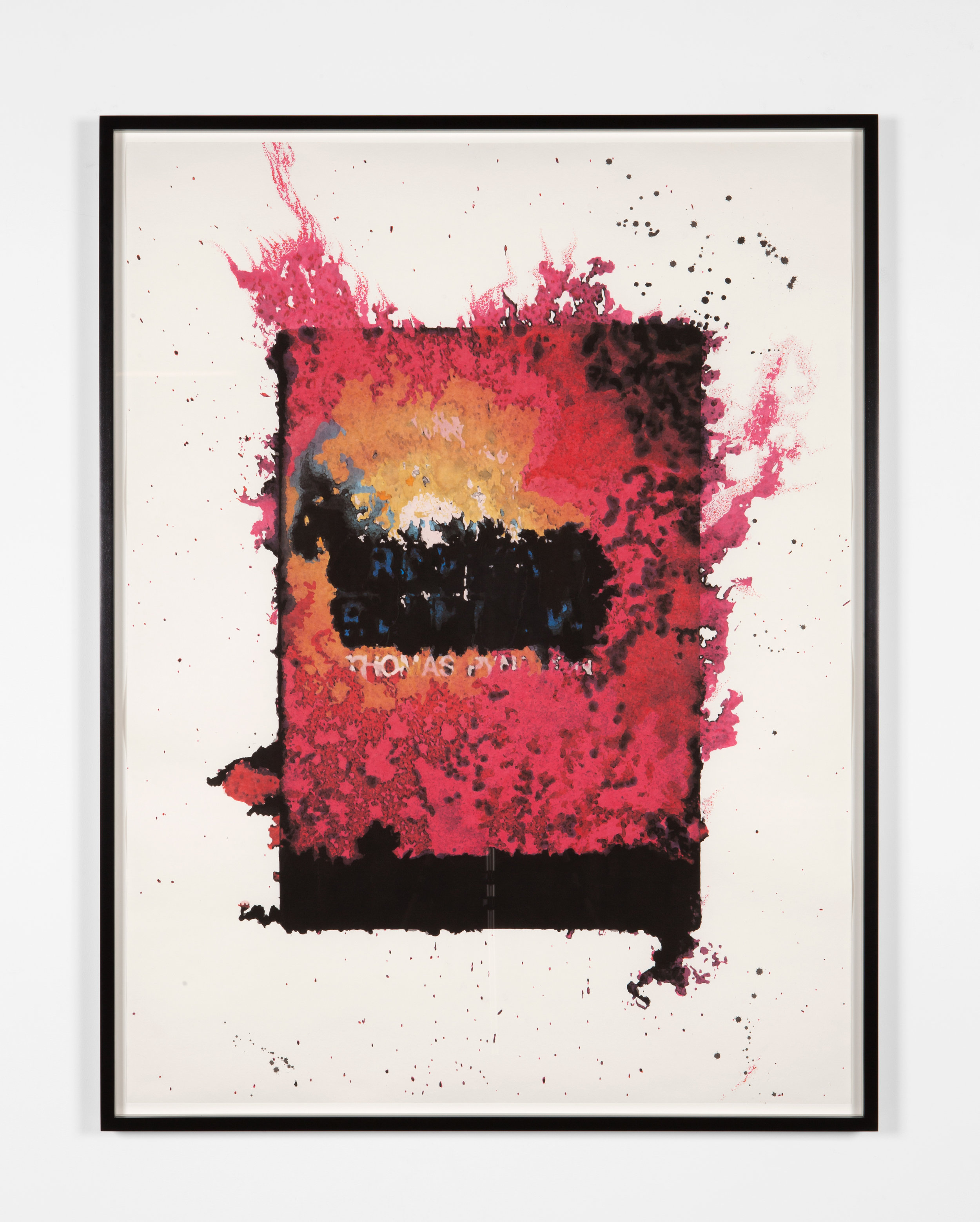 Drew Heitzler  Pacific Palisades (Gravity's Rainbow #1) , 2015 Solvent and water-based ink on Arches 52 x 39 in. Courtesy of the artist and Blum & Poe, Los Angeles/New York/Tokyo   View on Artsy