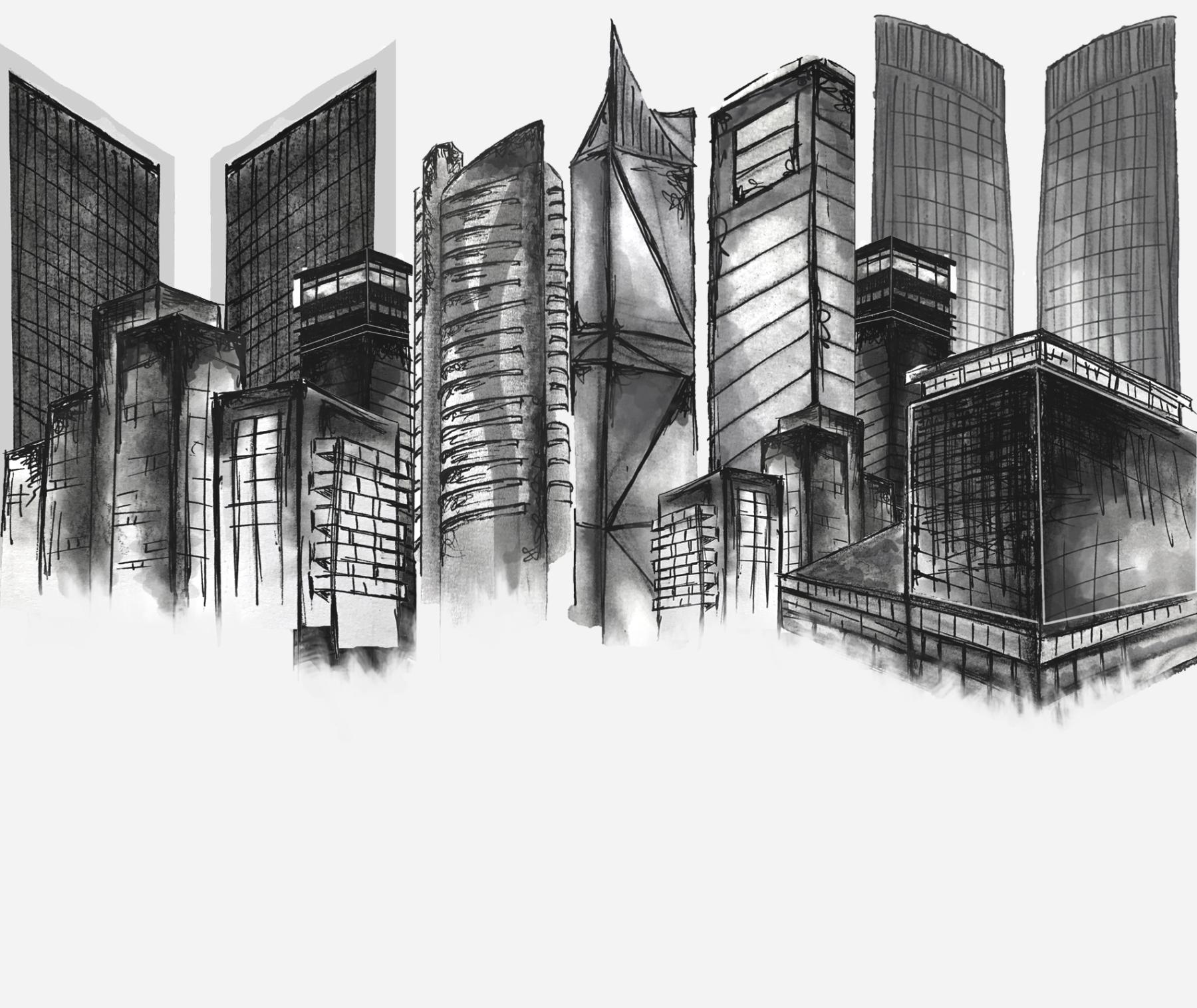 Global Real Estate  Illustration for Quartz