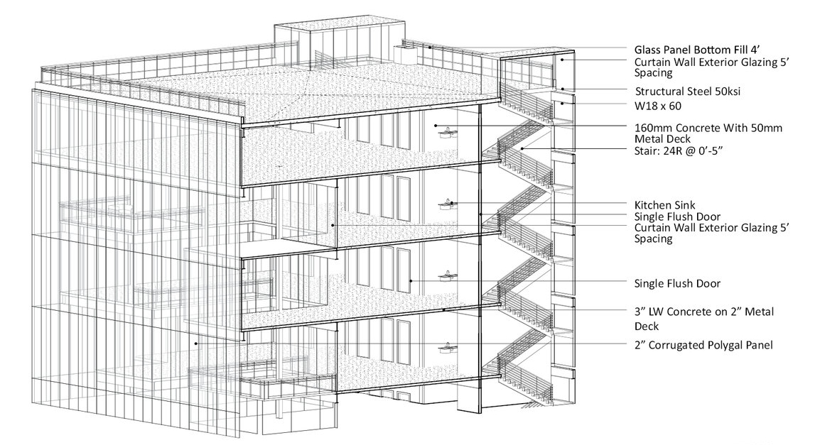 REVIT STRUCTURE 3D SECTION