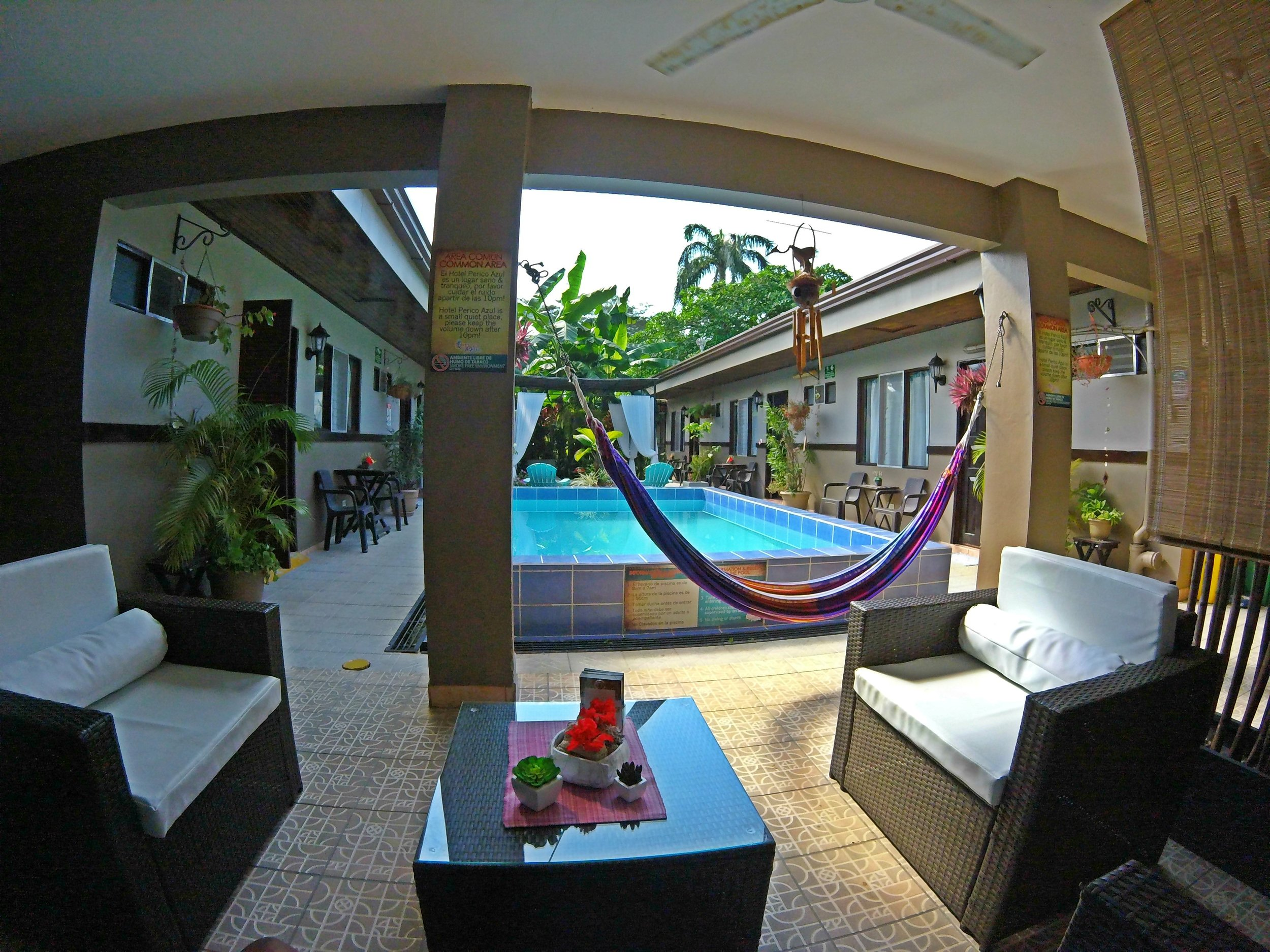 Hotel Perico azul - Our base camp and home