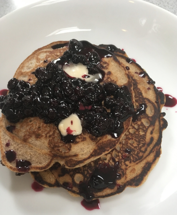 Buckwheat Pancakes With Blueberry Compote Nourished Living