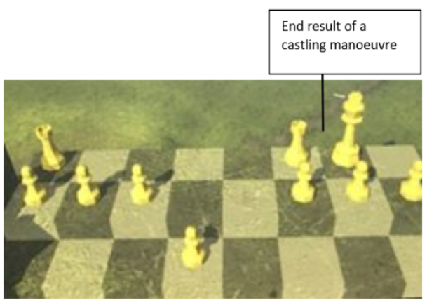 Figure 8b - The result of a Castling manoeuvre