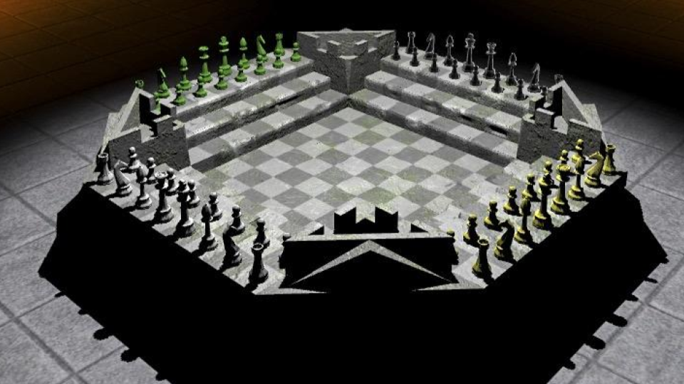 Four Kings One War - Chess Variant Board Set up