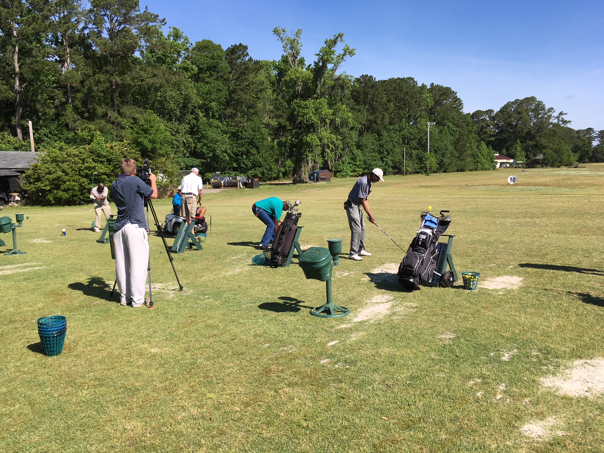 WTOC doing another story on our Adaptive Golf Clinic.  Thank you WTOC!!