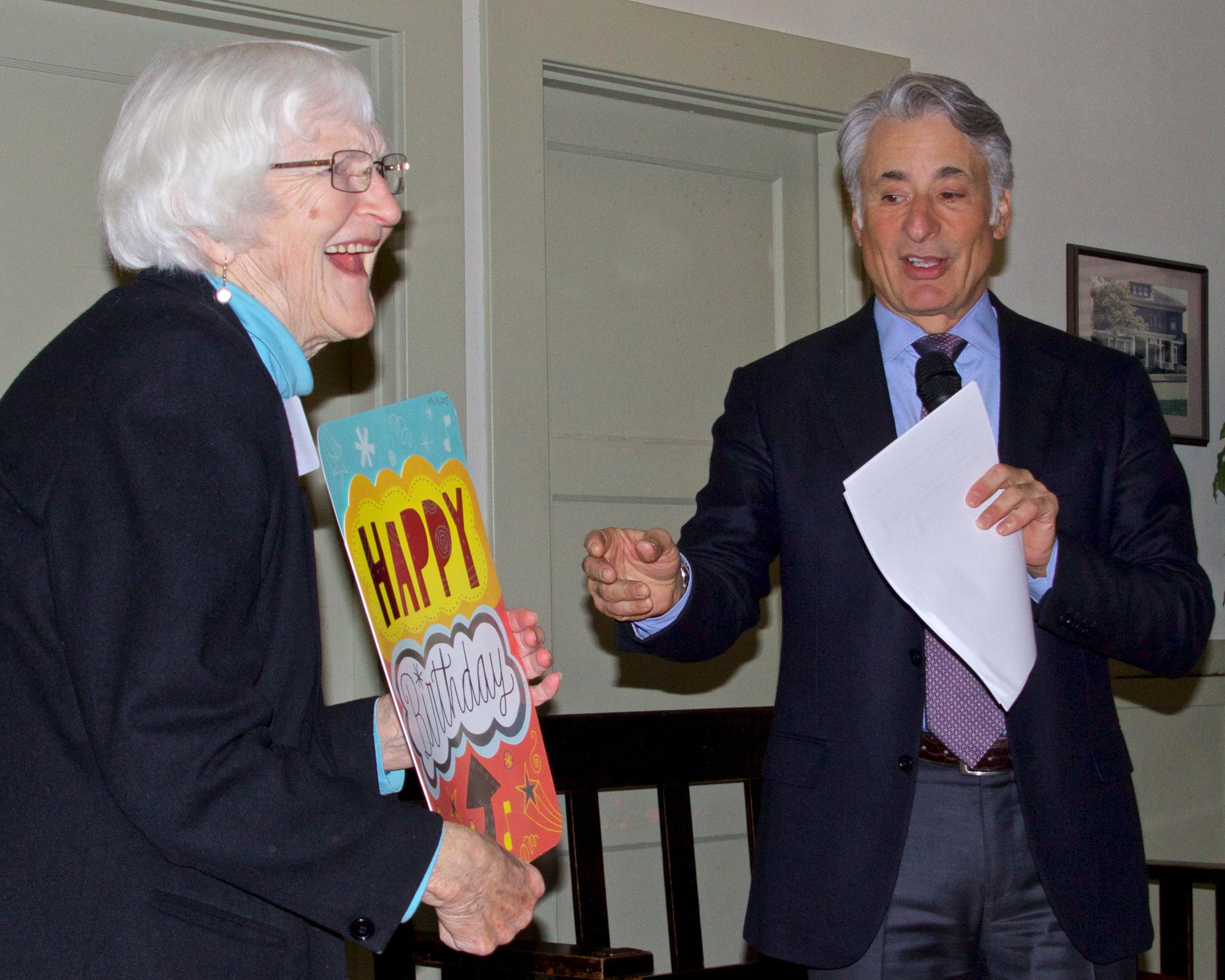 Helen Engle & David Yarnold - Photo by Don Willott of Kitsap Audubon Society