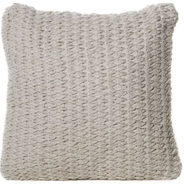 White woven pillow