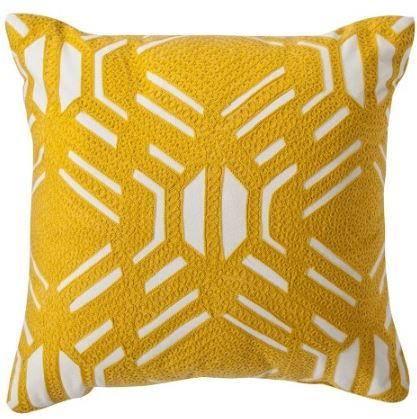 Yellow Pattern Pillow