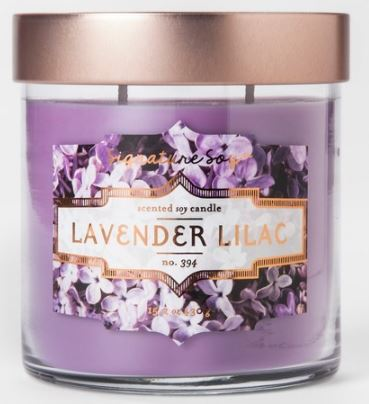 Purple Lavender Lilac Candle