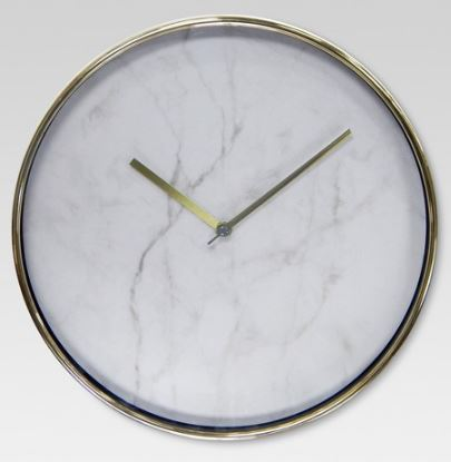 Wall Clock Marble with Brass