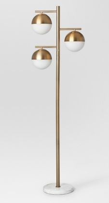 Globe Floor Lamp Brass