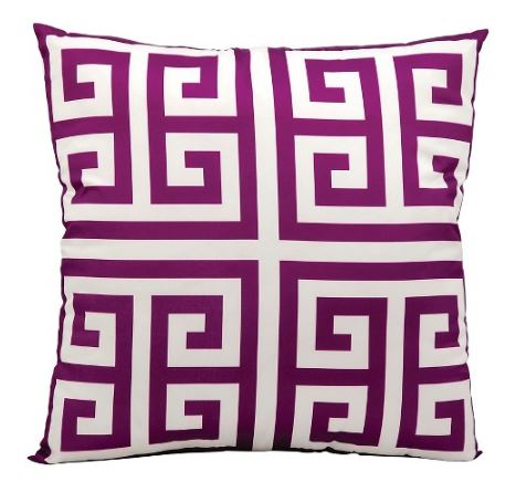 Lilac Greek Key Pillow