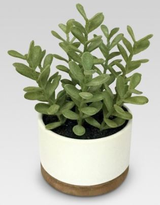 Artificial Plant White Pot
