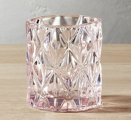 Pink Votive Candle Holder