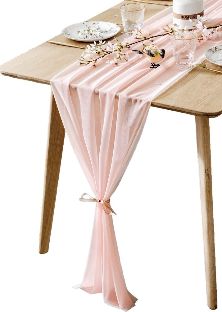 Sheer Blush Table Runner