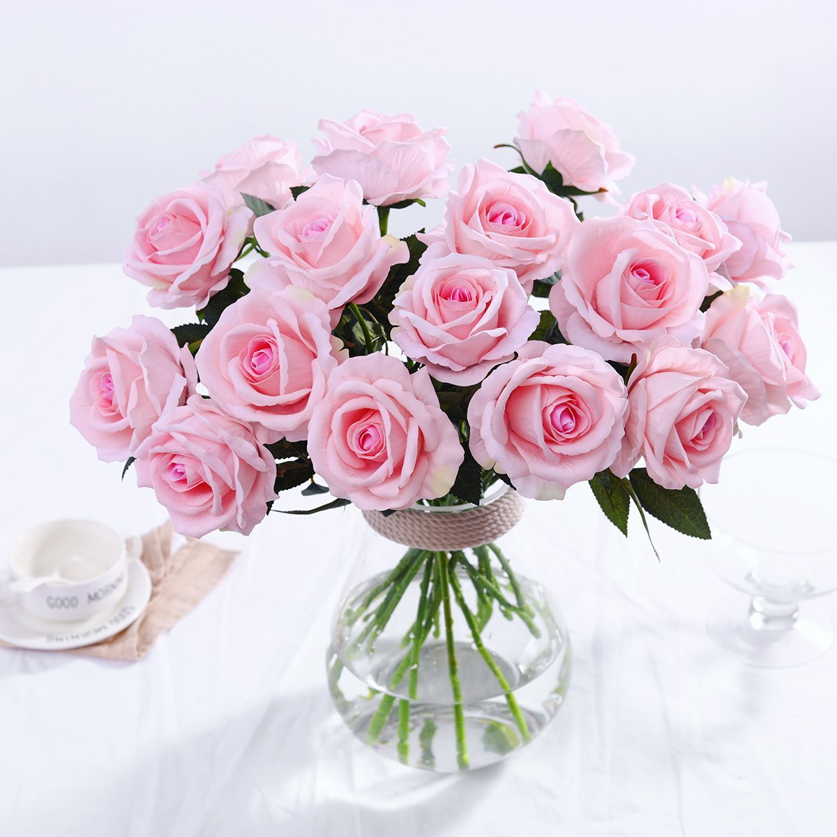 Pink Blush Rose Artificial Flowers