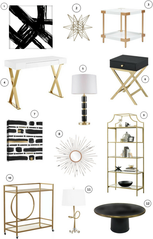 Target Black White Gold Decor