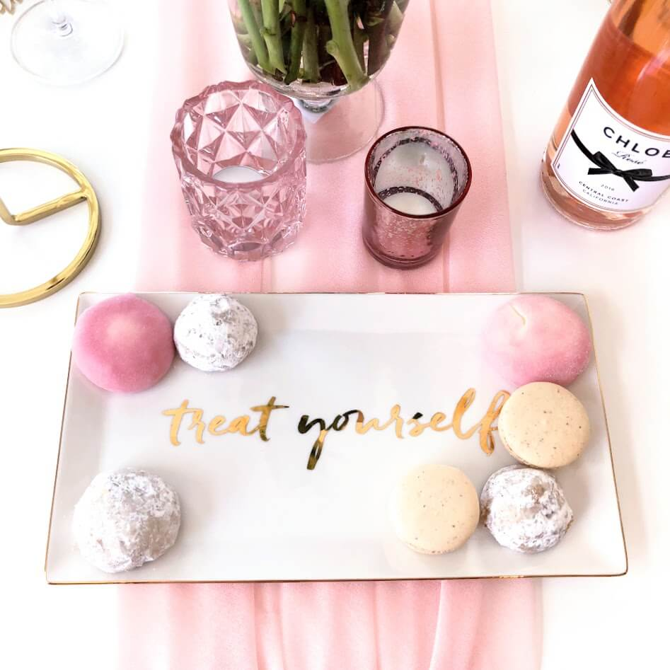 Treat Yourself Gold Tray