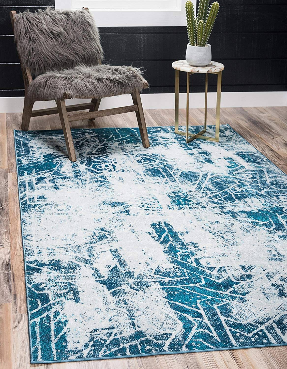 Blue Geometric Rug Amazon