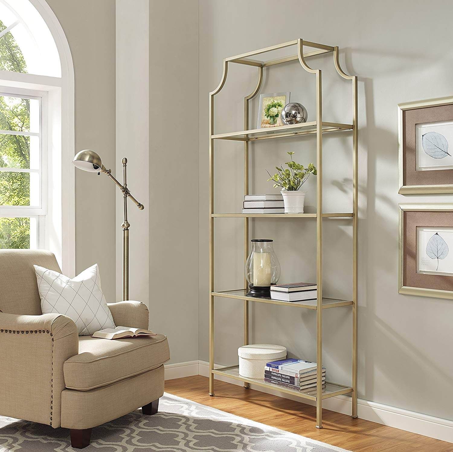 Gold Bookcase Amazon
